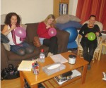 Drawing a breast at the breastfeeding session